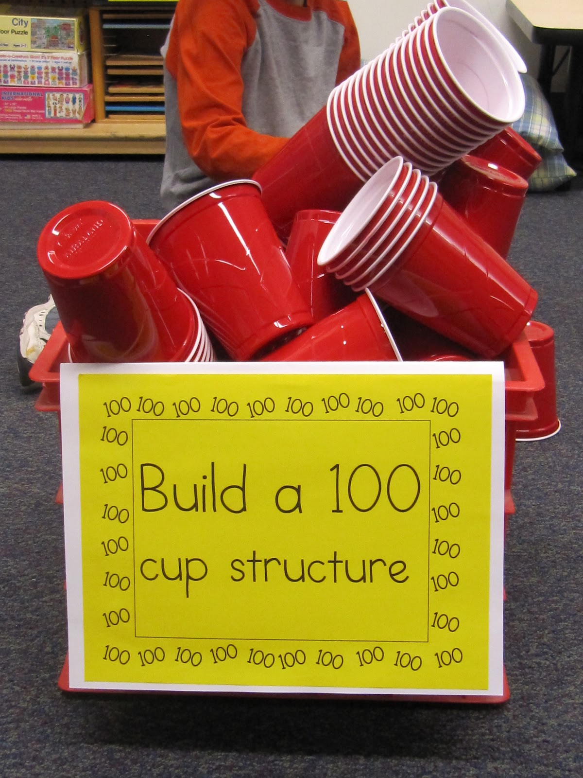 makerspace cup idea 100 days of school